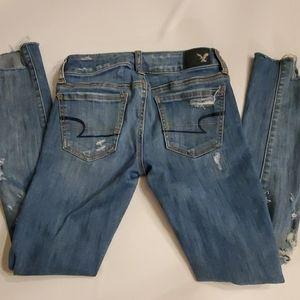 American Eagle Super Stretch Distressed Jeans